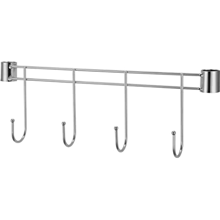 Lorell Industrial Wire Shelving Hook Rack, 18-Inch, Silver
