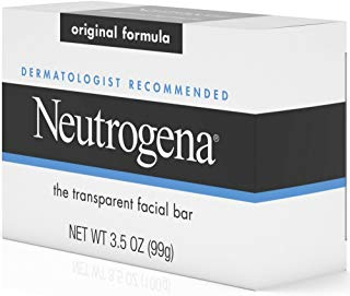 Neutrogena Original Gentle Facial Cleansing Bar with Glycerin, Pure & Transparent Face Wash Bar Soap, Free of Harsh Detergents, Dyes & Hardeners, 3.5 oz (Pack of 6)