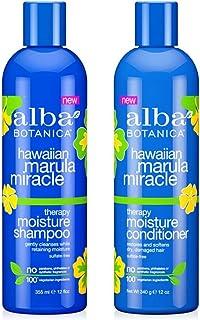 Alba Botanica Hawaiian Marula Miracle Therapy Shampoo and Conditioner Bundle, 12 Ounces Each