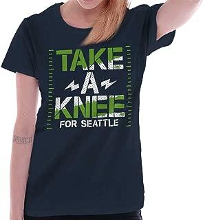 Brisco Brands Take Knee Baltimore Kaepernick Protest Ladies T Shirt