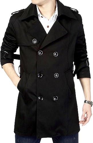 MatchLife Homme Trench Coat Style Veste Affaires Col Montant, Col Classique de Veste