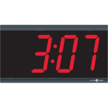 Amazon Com Pyramid Extra Large 4 Numeral Red Led Digital Clock 4 Digit 110v 6 Cord Made In Usa Dig 4b Electronics