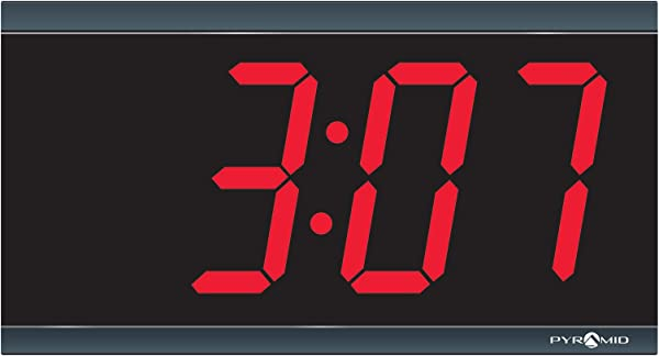 Simplex Compatible 4 Digit Red LED 110V Digital Clock By Pyramid 41357G