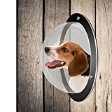 2Pack Durable Acrylic Dome Pet Dog Fence Peek Window for Cats Dogs Prevent Fence Jumping, Reduce Barking & Digging