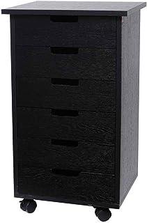 Armoire à dossiers en bois 6 tiroirs Meuble de bureau Meuble de rangement