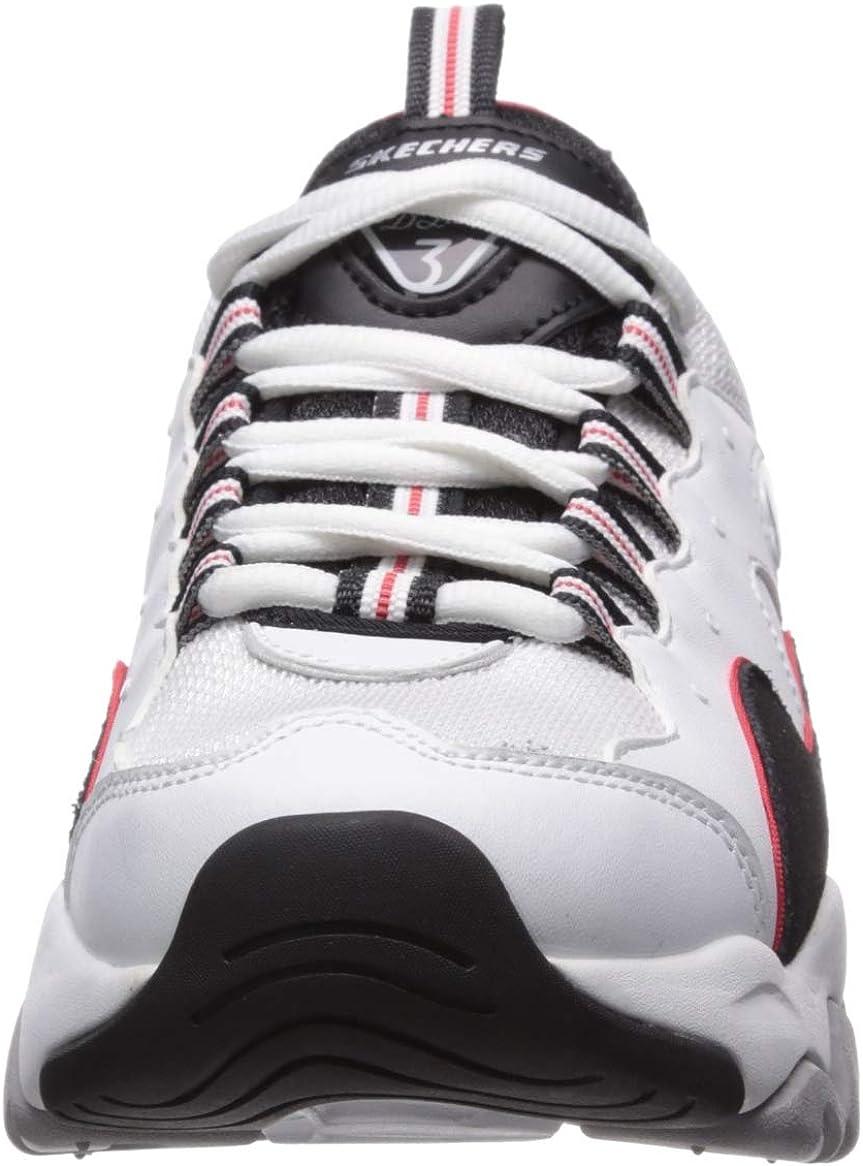 Skechers D'Lites 3 tenis para mujer Blanc Bleu Marine Rouge