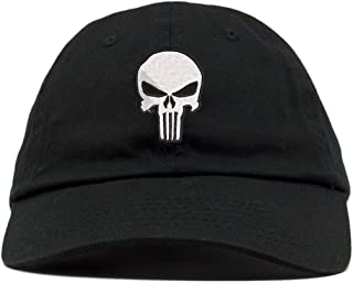 TOP LEVEL APPAREL Punisher Logo Embroidered Low Profile Soft Crown Unisex Baseball Dad Hat