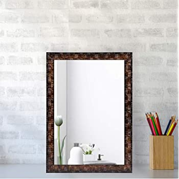 Creative Arts n Frames Synthetic Wall Mirror (Brown_10 X 12 Inch)
