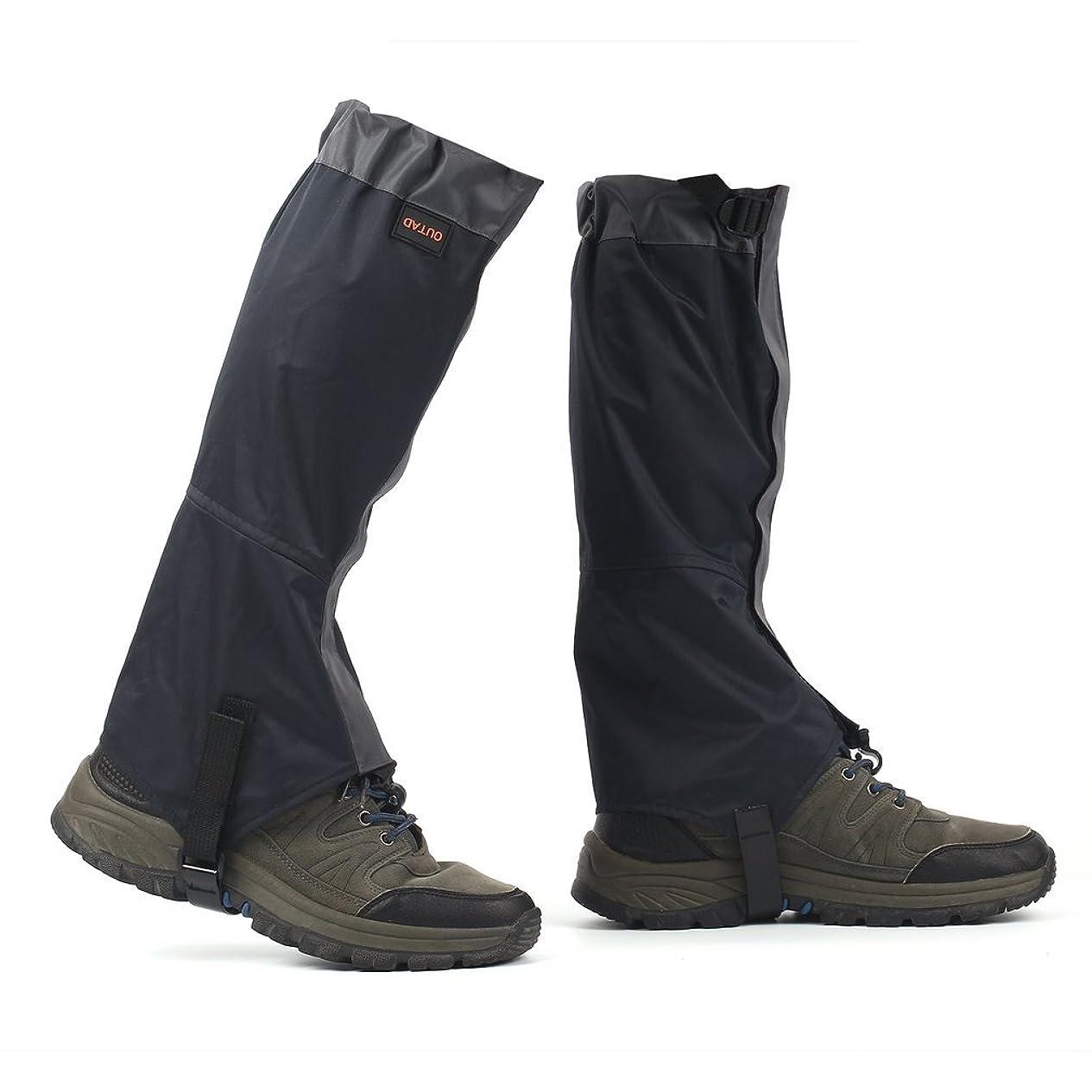 老朽化した買い手ようこそOUTAD ゲイター?スパッツ 登山に大活躍 足元の防水、砂利の侵入対策 防汚 防水 撥水 トレッキング装備 M-L-XLサイズ 男女兼用