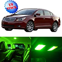 SCITOO LED Interior Lights 11pcs Green Package Kit Accessories Replacement for 2010-2016 Buick Lacrosse