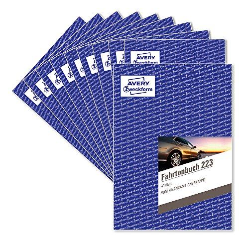 Preisvergleich Produktbild AVERY Zweckform 223-10 Fahrtenbuch für PKW im 10er-Pack (vom Finanzamt anerkannt,  A5,  80 Seiten insgesamt 858 Fahrten,  für Deutschland und Österreich zur Abgrenzung privater / geschäftlicher Fahrten)