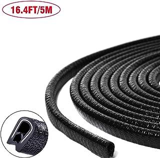 TYLife Rubber Car Door Edge Guards,16.4ft(5M) U Shape Edge Trim Seal Car Door Protectors Edge Fit for Most Car,Black