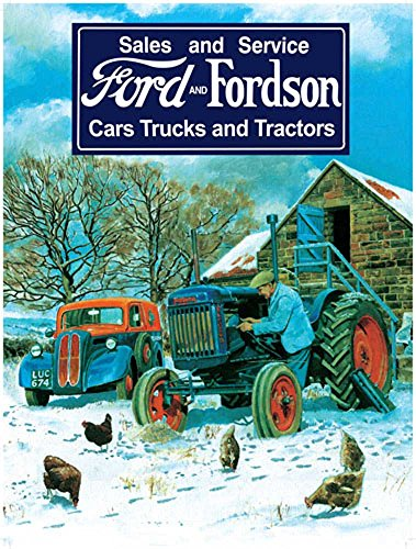 empireposter Ford Fordson Traktor Blechschild Blechschild Stabiles Flach Neu 15 x 20 cm VS5211-1