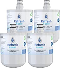 Refresh Replacement for LG LT500P, 5231JA2002A, 5231JA2002A-S, ADQ72910901, ADQ72910902, ADQ72910907 and Kenmore 46-9890 Refrigerator Water Filter (4)