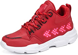AFFINEST Kids Light up Shoes LED Screen High Top USB Charging Boys Girls Flashing Fashion Sneakers