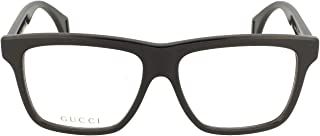 Seasonal Icon GG 0464O 006 Black Plastic Square Eyeglasses 56mm