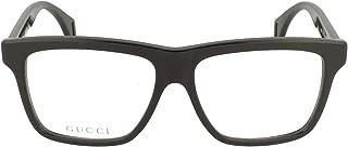 Seasonal Icon GG 0464O 006 Black Plastic Square Eyeglasses 56mm