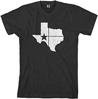 Men's Distressed White Texas State Flag T-Shirt