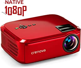 Crenova Projector Native 1080p LED Video Projector, 5500 Lux HDMI Projector with 200
