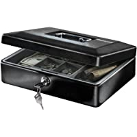 SentrySafe CB-12 Cash Box with Money Tray and Key Lock (0.21 cu Feet)