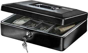 SentrySafe 0.21 cu Feet Cash Box with Money Tray and Key Lock