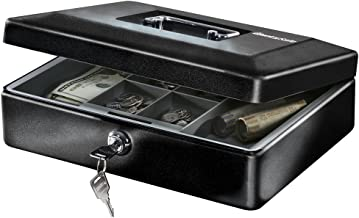 SentrySafe CB-12 Cash Box with Money Tray and Key Lock 0.21 cu Feet