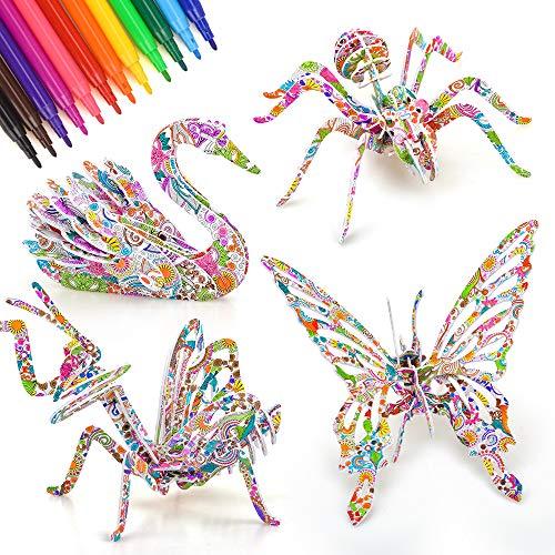 8 9 10 11 12 Años Juegos Niña Niño, Puzzle para Niños Niños 7-10 Año Actividades Creativas Kits 6 7 8 Años Regalo para Niñas 9-12 Año Juguetes Animales Niños Adultos Regalos Arte y Manualidades