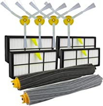 Connoworld Filter Side Brushes Clean Replacement Tool Kit for iRobot Roomba 800 866 876 900