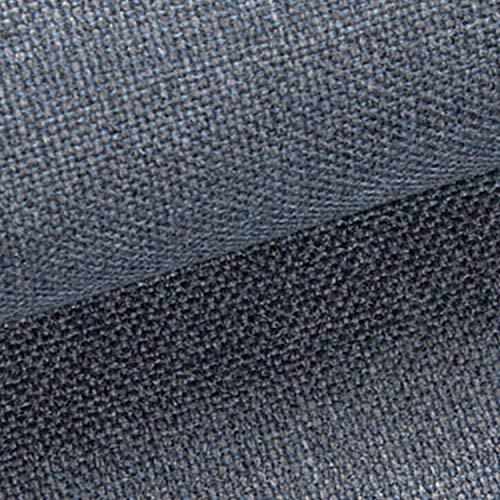 NOVELY® MUDAU | Polsterstoff | Meterware | Möbelstoff | Webstoff | Struktur-Stoff | Mélange | Grober Handwebcharakter | 26 Farben (81 Blau Grau)