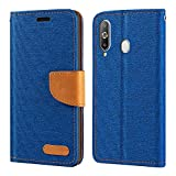 Samsung Galaxy A8S Case, Oxford Leather Wallet Case with