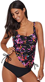 Women's Paisley Printed Tankini Strappy Hollow-Out Push up Sexy Two Piece Swimwear Set