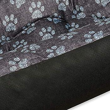 SuperKissen24 Panier pour Chien - Lit pour Chien - Apaisant - Taille L - Noir et Gris -Pattes de Lin