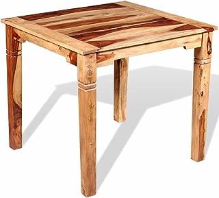 Lingjiushopping Dining Table Solid Sheesham Wood 82 nbsp x 80 nbsp x 76 nbsp cm Material  Solid Sheesham Wood Honey  or Dalbergia  with Matt Finish Dimensions  82 nbsp x 80 nbsp x 76 nbsp cm