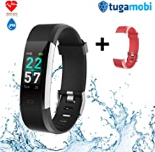 tugamobi SmartBand SB101,Fitness Tracker, Heart Rate Monitor,Activity Tracker Watch with HR, Step Counter, Sleep Monitor,14 Sport Modes(0.96