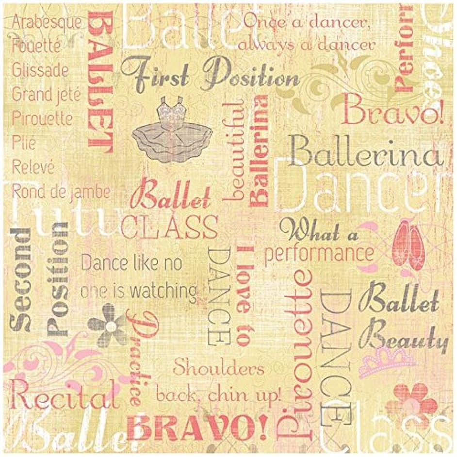 KAREN FOSTER Design Scrapbooking Paper, 25 Sheets, Ballerina Collage, 12 x 12