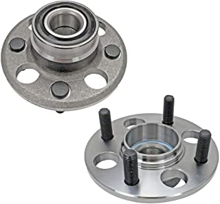 Bodeman - Pair 2 Rear Wheel Hub & Bearing Assembly w/o ABS for 1993-1997 Honda Civic del Sol/ 1997-2000 EL - REAR DRUM & Non-ABS ONLY
