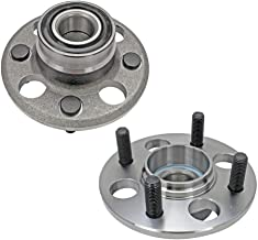 Bodeman - Pair 2 Rear Wheel Hub & Bearing Assembly for 1993-1997 Honda Civic del Sol/ 1997-2000 EL - REAR DRUM & Non-ABS ONLY