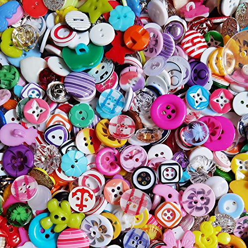 100pcs Small Plastic Buttons