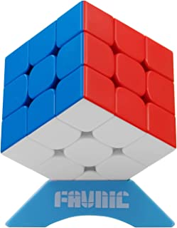 FAVNIC Speed Cube, Magnetic Magic Cube 3X3 Rompecabezas sin Etiqueta Juguetes