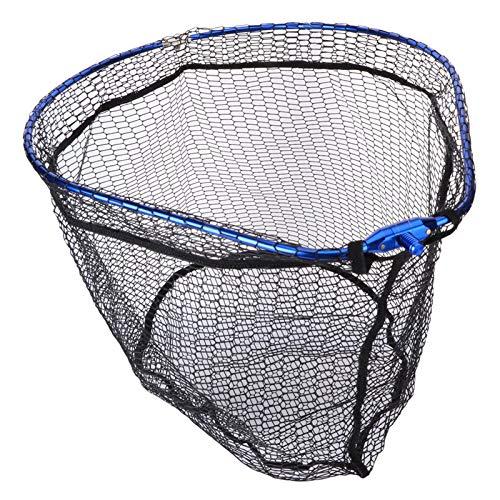 XIAOFANG Pieghevole Pesca Atterraggio Net Net Alluminio Lega di Pesca Rete Rete Grande Rete Pieghevole 55x44cm Figura di Pera Cornice diddle-Net Rock Maglia