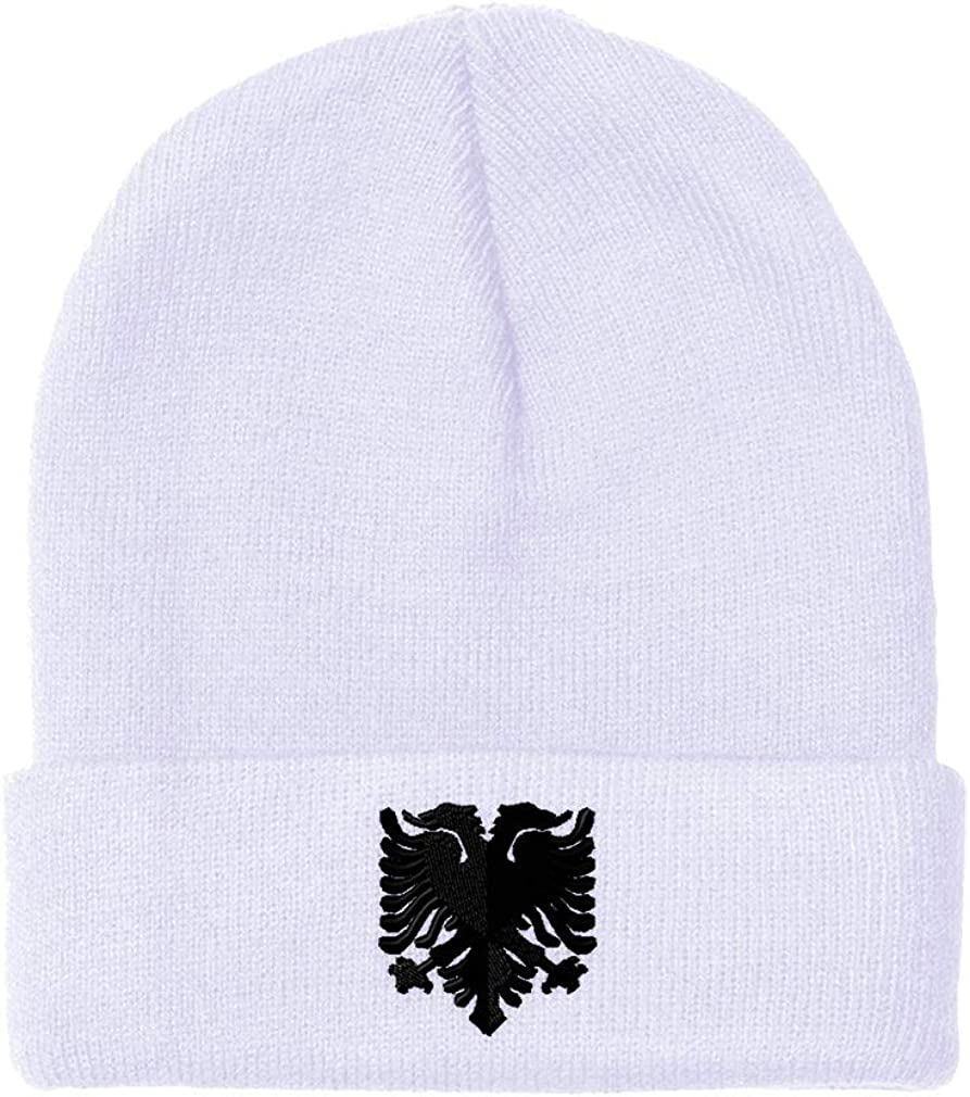 Beanies for Men Albanian Eagle Black Winter Hats San Diego Mall Popular brand Wome Embroidery