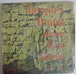 Jacques Douai chante Leo Ferre: L'inconnue de Londres - Les forains - La fortune - Le scaphandrier, Vinyle EP 45 tours Biem BAM Ex 212