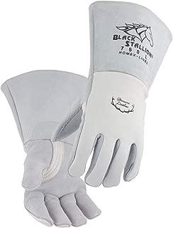 Black Stallion 750 Premium Grain Elkskin Stick Welding Gloves, Large