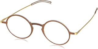 ThinOptics Reading Glasses + Milano Aluminum, Magnetic Case | Frontpage Manhattan Collection, Brown Frame 2.50 Strength Readers