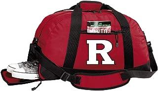 Broad Bay Rutgers University Duffle Bags - RU Gym Bag w/Shoe Pockets