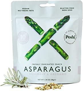 POSHI Asparagus Vegetable Snack | 10 Pack | Keto, Vegan, Paleo, Non GMO, Low Carb, Low..