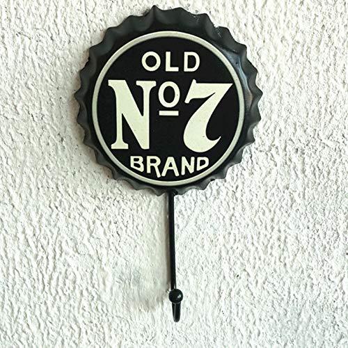 NHP Ganchos de Tapa de Botella de Vino Retro, artesanías de Pared caseras, Colgantes Decorativos(Size:L)
