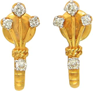 Popleys 18KT Yellow Gold and Diamond Hoop Earrings (DID1809)