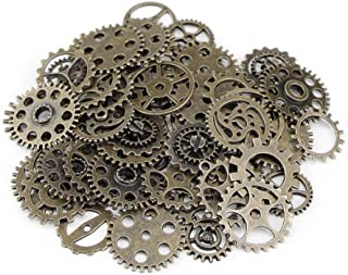 Decdeal Alloy Clock Watch Gear Wheel DIY Ornament Accessories Mechanical Gear Wheel Charms Jewelry Arts Parts for Crafting