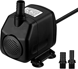 Homasy Upgraded 920GPH (3500L/H) Submersible Water Pump, Water Fountain Pump with 9.8ft Max Lift, 5.9ft Power Cord & 2 Nozzles, Cleanable Pond Water Pump for Fish Tank Aquarium Statuary Hydroponics